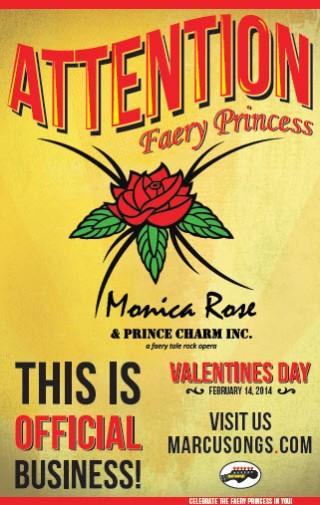 Promotional Poster - Monica Rose & Prince Charm Inc. - a Faery Tale Rock Opera