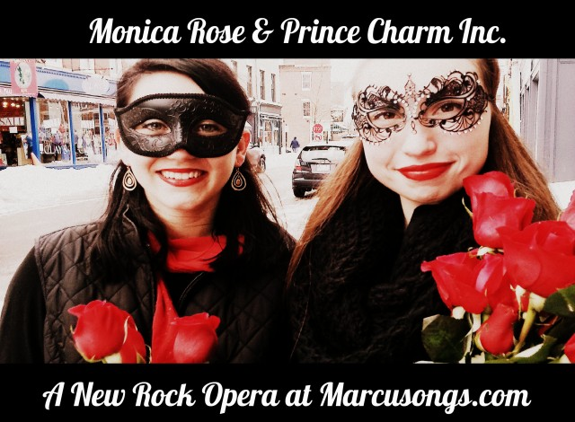 Launch Poster - Monica Rose & Prince Charm Inc. Faery Tale Rock Opera